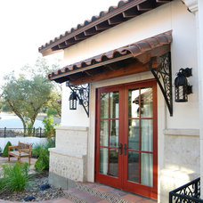 Mediterranean Porch by Burdick Custom Homes