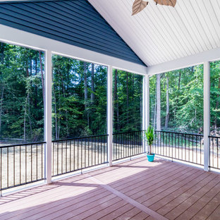 This is an example of a contemporary porch design in DC Metro.