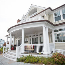Beach Style Porch by CMM Construction Inc.