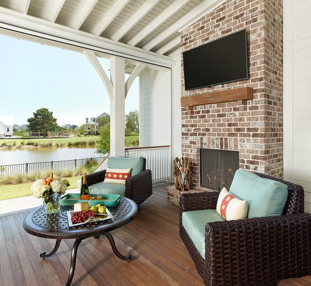 Transitional Porch by JacksonBuilt Custom Homes
