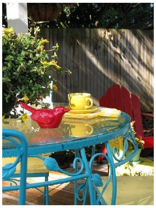 Painted Wrought Iron Furniture Houzz