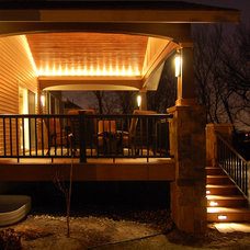Modern Porch by Kaufman Construction Design and Build