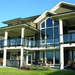 contemporary porch deck