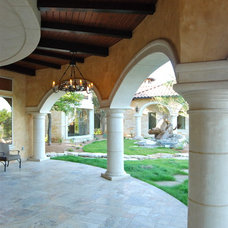 Mediterranean Porch by Stadler Custom Homes