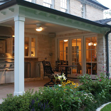 Traditional Porch by Pam Chapman Architect