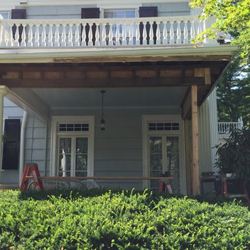 Demolition of Rotted Material on Porch