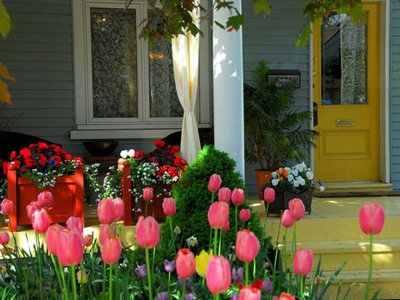 Traditional Porch by Denise Dering Design
