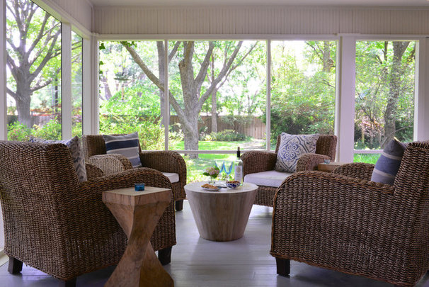 Contemporary Porch by Laurie S Woods, ASID