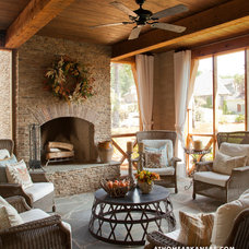 Traditional Porch by Providence Design