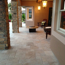 Traditional Porch by Travertine Mart