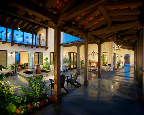 Open Courtyard Houzz