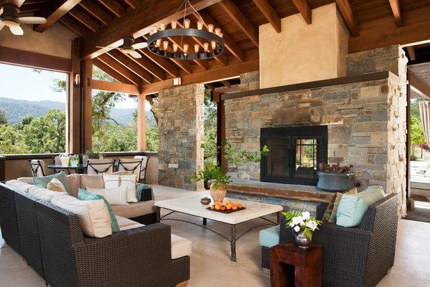 Mediterranean Porch by Dotter & Solfjeld Architecture + Design