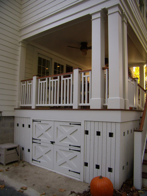 Under deck storage houzz for Garage under deck
