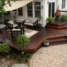 Traditional Porch by Fine Decks Inc