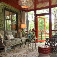 contemporary porch by Decorating Den Interiors - Deborah Bettcher