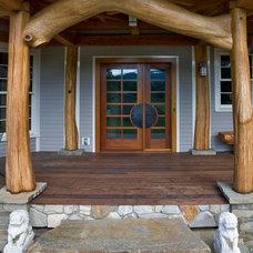 Eclectic Porch by HAYNES & GARTHWAITE ARCHITECTS