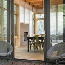 modern porch by Burns and Beyerl Architects