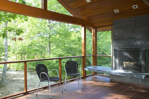 Modern Porch by Knight Associates