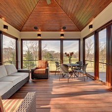Contemporary Porch by Wooddale Builders