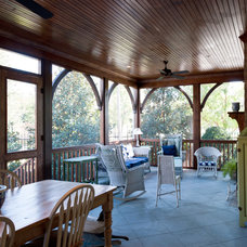 Traditional Porch by P. Shea Design