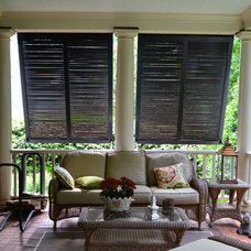 Traditional Porch by Elite Shutters & Blinds, Inc.