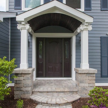 Entry Porch Extension & Complete Exterior Remodel in Naperville