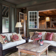 Traditional Porch by Kate Jackson Design