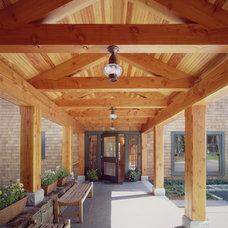 Traditional Porch by Sheldon Pennoyer Architects