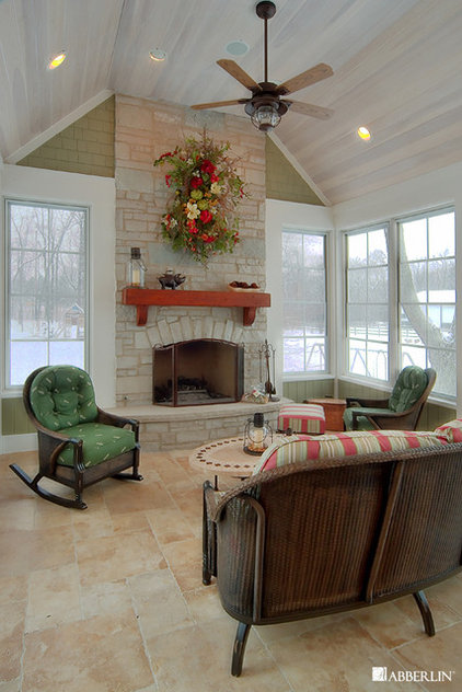 Traditional Porch by Tracy Leah Interior Design