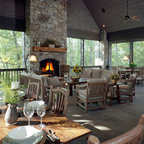 European Stone And Slate Mountain Home Traditional