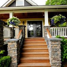 Traditional Porch by Kenorah Design + Build Ltd.