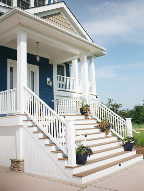 Front steps railing home design ideas pictures remodel and decor - Home entrance stairs design ...