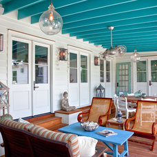 Beach Style Porch by Patrick Brickman