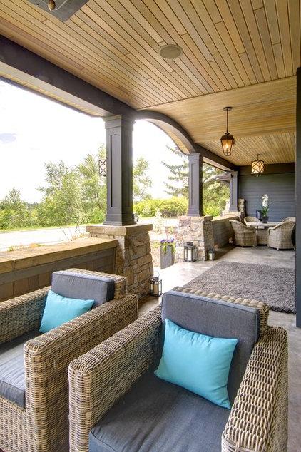 Craftsman Porch by Rockwood Custom Homes