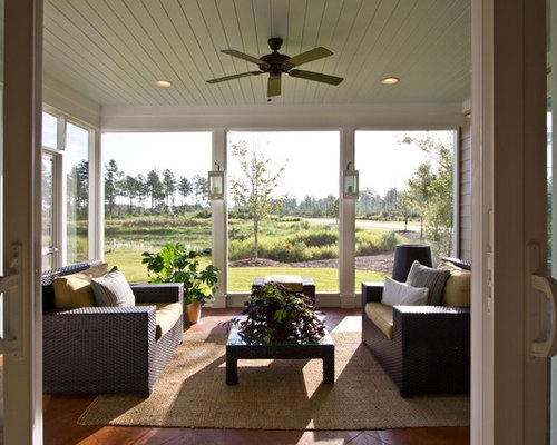 Ideas para terrazas dise os de porches cerrados con for Suelo waterfront