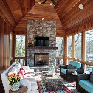 Large classic porch idea in Minneapolis