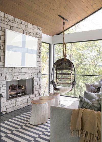 Farmhouse Porch by David Charlez Designs