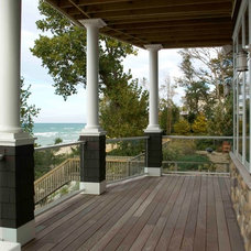 Eclectic Porch by Berneche2 Architecture