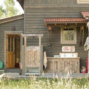 Mountain style porch idea in Denver