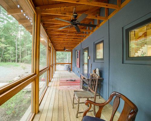 Ideas para terrazas dise os de porches cerrados de estilo de casa de campo en raleigh - Disenos de porches de casas ...