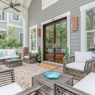 75 Beautiful White Brick Porch Pictures Ideas March 2021 Houzz