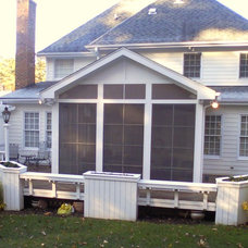 Traditional Porch by Weatherford Construction Company
