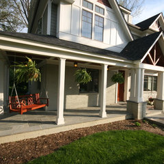 eclectic porch by Robert Nehrebecky AIA, Re:New Architecture