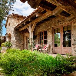 Mediterranean front porch porch design ideas pictures for Mediterranean front porch designs