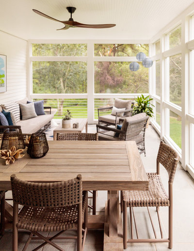 Farmhouse Porch by Jess Cooney Interiors