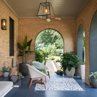 Eclectic porch photo in Austin