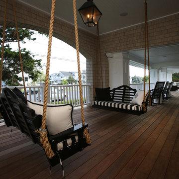 Front Porch, Beach Cottage Renovation, Avalon, NJ