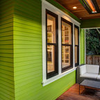Front porch craftsman porch seattle by board and for Passarelli custom homes