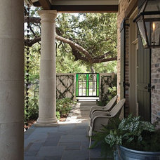 Eclectic Porch by Gibson Gimpel Interior Design