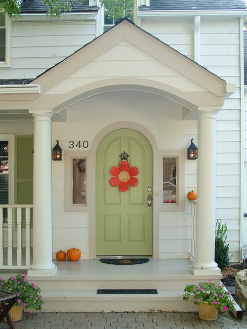 This Is An Example Of A Traditional Front Porch Design In Other With A Roof  Extension